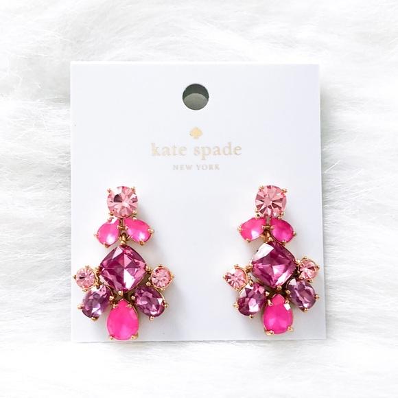 f1445694d kate spade Jewelry | Fuchsia Crystal Dangle Earrings | Poshmark